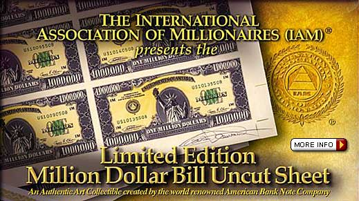 Unique and Rare Work of Financial Art, this is an Authentic, One-Time-Only, VERY Limited Edition Financial Collectible.